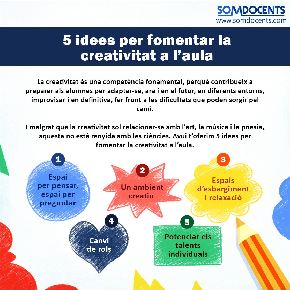 somdocents-5-idees-per-fomentar-la-creativitat a l'aula