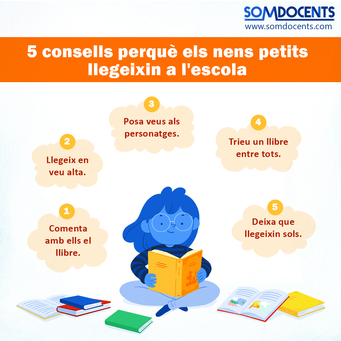 5 consells per fer que els nens llegeixin a l'escola