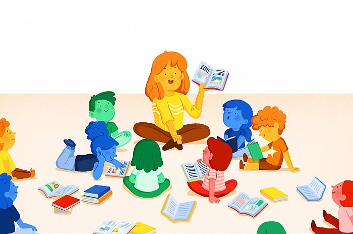 Imatge Biblioteca escolar i animació de la lectura
