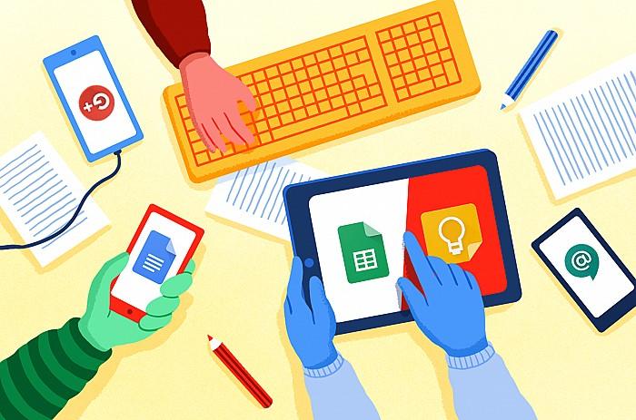 Imatge Progressar en el treball amb les eines Google Workspace for Education aplicades a l'aula